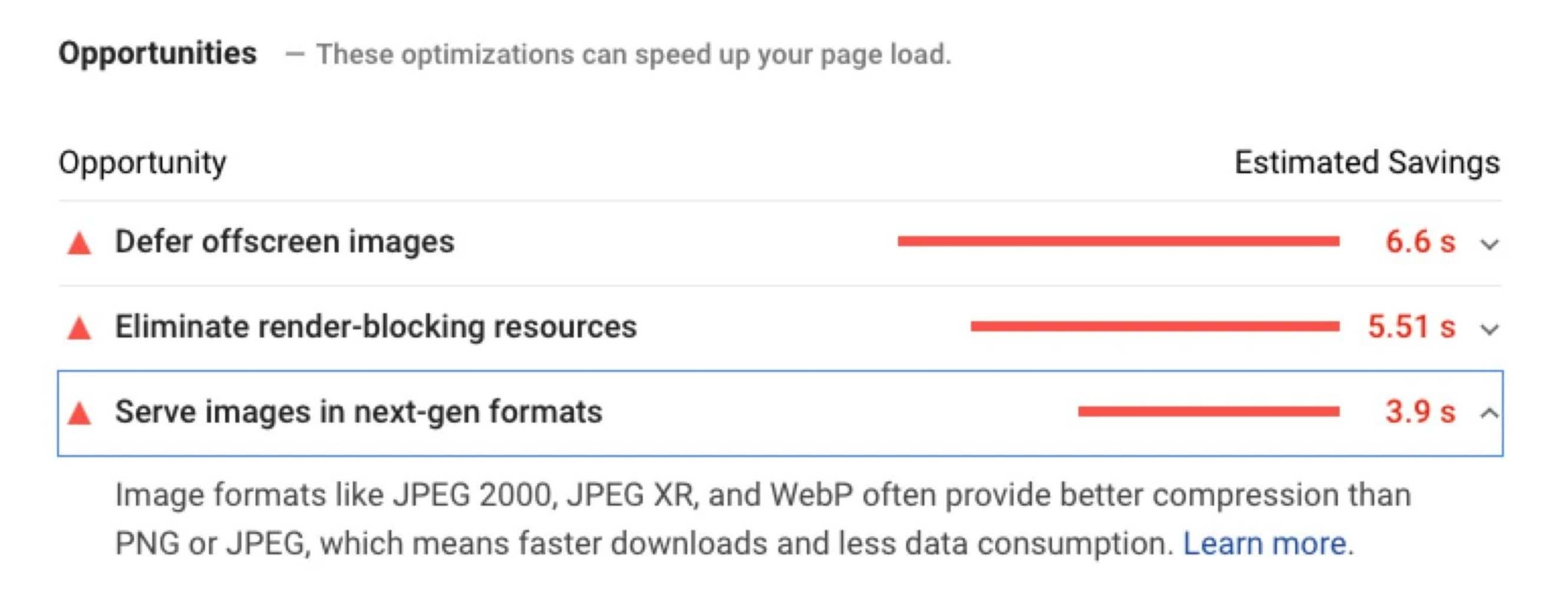 PageSpeed serve images in next-gen formats